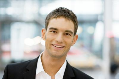 Man With Dental Discount For Teeth Whitening