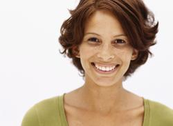 Woman with cosmetic dentistry