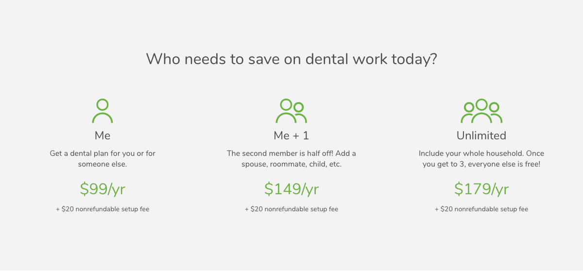 1Dental Plan Pricing